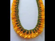 Bridal Jewelry Diy Craft Ideas Ideas For 2019 Ribbon Crafts, Flower Crafts, Flower Diy, Diy Flowers, Flower Room, Flower Decorations, Garland Decoration, Ribbon Lei, Diwali Decorations