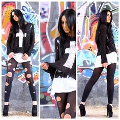 #moda #outfit #instaoutfit #look #style #cross #rockstyle #igaaddicted #instagood #instagrammer #igers #tagsforlikes #likeforlike #instamodel #italiangirl #ragazzeitaliane #scattiitaliani #madeinitaly #life #love #isabella #luisa