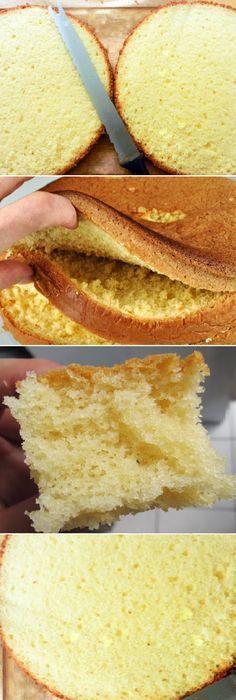 Tortas y pane Best Cake Recipes, Sweet Recipes, Dessert Recipes, Favorite Recipes, Desserts, Vanilla Sponge Cake, Pan Dulce, Pastry Cake, Pretty Cakes