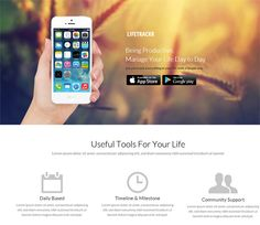 LifeTrackr a Landing page Flat Responsive web template