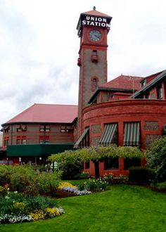 Portland's historic Union Station--used to take the train home to Olympia during college years.