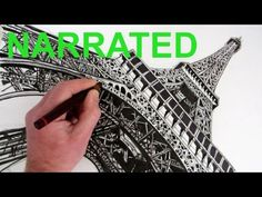 Learn How to draw The Eiffel Tower: Narrated step by step in a dramatic pencil and pen drawing tutorial. WATCH NEXT: Simple How to Draw The Eiffel Tower: htt...