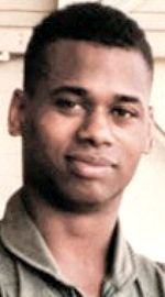 Marine SSgt Kendall Damon Waters-Bey, 29, of Baltimore, Maryland. Died March 21, 2003, serving during Operation Iraqi Freedom. Assigned to Marine Medium Helicopter Squadron 268, 3rd Marine Aircraft Wing, Marine Corps Air Station Camp Pendleton, California. Died of injuries sustained when the CH-46E Sea Knight helicopter he was in developed mechanical problems and crashed near the Kuwait border with Iraq while ferrying U.S. and British Marines to the combat zone in Iraq.