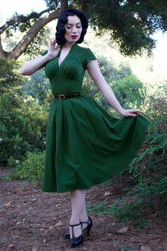 Miss Candyfloss Odette Dress in Grain Green 102 20 17946 20160301 0015c
