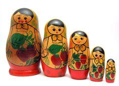 Vintage Matryoshka Nesting Doll from Moldavia
