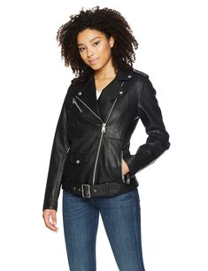 GenericWomen Slim Leather Jacket Punk Bomber Casual Zipper Short Coat