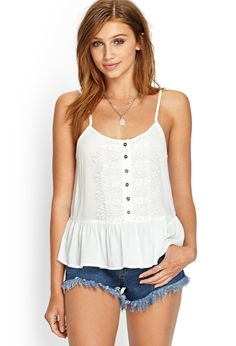 Perfect white top for summer!