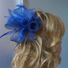 Your place to buy and sell all things handmade Navy Blue Fascinator, Tea Party Hats, Church Hats, Fancy Hats, Wedding Hats, Derby Hats, More Cute, Hair Pins, Royal Blue
