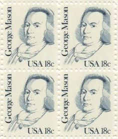 George Mason Set of 4 x 18 Cent US Postage Stamps NEW Scot 1858 . $9.95. One set of four (4) George Mason 4 x 18 Cent postage stamps Scot #1858