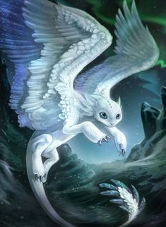 Draw Creatures It's a feathery white Toothless<<<animal creature species design drawing with wings that are white and blue like Toothless dragon Mythical Creatures Art, Mythological Creatures, Magical Creatures, Night Creatures, Pet Anime, Cool Dragons, Dragon Artwork, Dragon Pictures, How Train Your Dragon