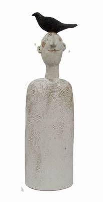 jane muir:bird-head with textured detail