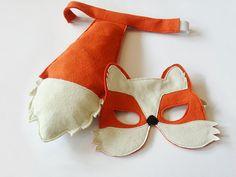 Masque de renard et de la queue pour enfants Kids par BHBKidstyle
