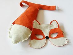 Fox Mask and Tail for Children Kids Carnival by BHBKidstyle