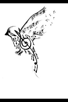 Music means a lot, and the bird means to be free.