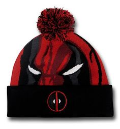 Images of Deadpool Face Pom Pom Beanie Deadpool Beanie 9c6dcdd88a1