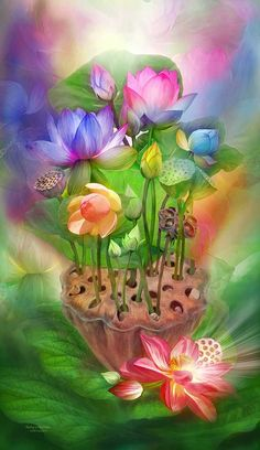 """Healing Lotus Chakra"" by Carol Cavalaris ©."