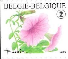 belgian stamps Definitive Issue - Flowers - self-adhesive. 'Petunia Hybrida'