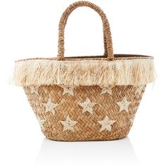 KAYU Stellar tote (€115) ❤ liked on Polyvore featuring bags, handbags, tote bags, nude, straw purse, fringe handbags, beige tote, tote handbags and nude purses