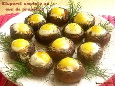Tapas, Romanian Food, Pastry Cake, Mediterranean Recipes, Baked Potato, Stuffed Mushrooms, Muffin, Food And Drink, Cooking Recipes