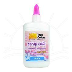 Cola Scrap Cola Branca True Colors 90ml Cola a base de resina vinílica estabilizada. Desenvolvida para colagem de papéis, formulada para evitar o amarelamento pela ação do tempo. ACID FREE. pronta para uso e atóxica. Fabricante: True Colors