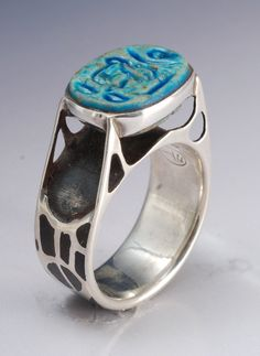 scarab silver and coral turquoise - Google Search