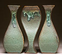 Vase Grouping by Mangum Pottery from Weaverville near Asheville, NC