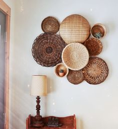 Basket Set by Kindred Finds Basket Set by Kindred Finds Home Decor Baskets, Basket Decoration, Baskets On Wall, Wall Basket, Bohemian Bedroom Decor, Boho Decor, Passion Deco, Moraira, Cheap Wall Decor