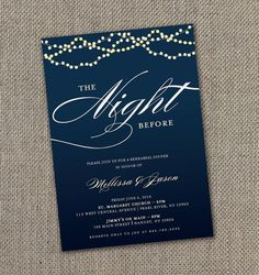 Starry Night Rehearsal Dinner Invitation 5 X 7 by EventswithGrace, $25.00