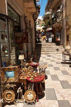 Antique shop in Taormina, Sicily
