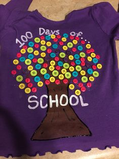 100 Tage Schul T-Shirt, 100 days of school T shirt 100 Tage Schul T-Shirt 100 Tage Schul T-Shirt. 100 Day Of School Project, 1st Day Of School, School Fun, School Days, School Projects, Diy For Girls, Shirts For Girls, 100 Day Shirt Ideas, 100days Of School Shirt