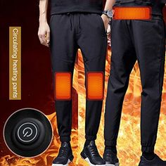 Intelligent Heated Warm Trousers Pants Carbon Fiber Heating Large Size Pants for Warm Pants, Best Insulation, Usb, Camping, Winter Warmers, Trouser Pants, Keep Warm, Carbon Fiber, Body Care