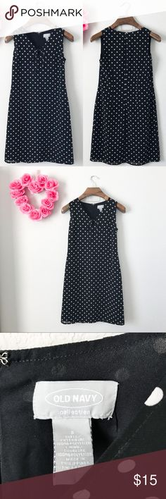 Old Navy Polka Dot Dress Pre-loved but in good condition! No stains, snags, or tears upon inspection. (0049)   PRODUCT DETAILS: •Size: 3/4 •Colors: Black, White •Made in Philippines •Measurements: Chest-17inch Length-36inch Waist-15.5inch •Sleeveless •Keyhole Tie Front •Polka Dot Print •Shell and lining is 100% polyester •Machine Wash •Zipper and clasp closure •Semi-sheer   Tags: Dinner evening church Old Navy Dresses Midi