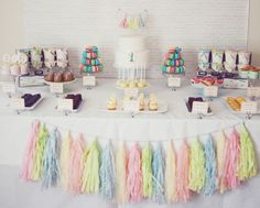 A fabulous Ice Cream and Sprinkles Dessert Table.