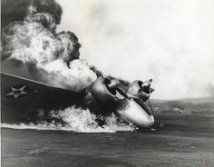 Burning Marine SNB Expeditor aircraft, US Territory of Hawaii, 7 Dec 1941 Source United States Marine Corps Pearl Harbor 1941, Pearl Harbor Day, Pearl Harbor Attack, Uss Helena, Airplane History, Remember Pearl Harbor, Uss Arizona, Imperial Japanese Navy, Ww2 Photos