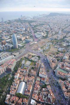 FOTOS Les impressionants imatges aèries de la Via Lliure a la Meridiana | Nació Digital