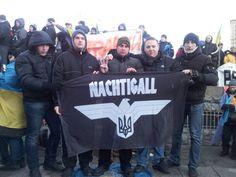 néonazis de l'#Ukraine magnifiant le bataillon #Nachtigall massacreurs des #Einsatzgruppen