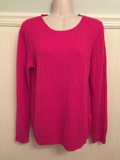 Gap Junior/Misses Sweater M Orange Long Sleeve Cable Knit Pullover ...