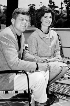 thosekennedys:  Senator John F. Kennedy and Jackie Kennedy on 05.29.1960 JFK's 43rd birthday. The JFK's spent 3 days at Lodge at Pebble Beach California. The senator also played golf at Cypress Point.