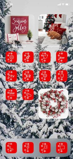 Christmas Lockscreen, Holiday Iphone Wallpaper, Cute Christmas Wallpaper, Iphone Wallpaper App, Holiday Wallpaper, Aesthetic Iphone Wallpaper, Iphone App Design, Iphone App Layout, Christmas Apps