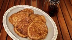 Peach-Apple Whole Wheat Pancakes Recipe   The Chew - ABC.com