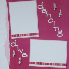 Dancing Diva 12x12 Premade Scrapbook Layout Page  by jenbustillo, $7.99