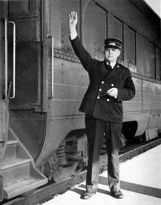 The idea of a train conductor is command and he changes as the train changes direction.