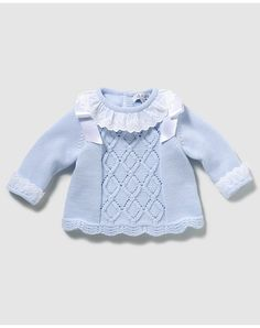 Knitting For Kids, Baby Knitting Patterns, Christening Gowns, Baby Sweaters, Kid Styles, Baby Dress, Girl Outfits, Clothes, Babies
