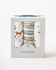 Little Unicorn Cotton Muslin Swaddle Set-Forest Friends
