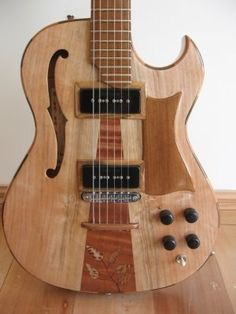 Ian Davie Luthier Koru Series with native New Zealand woods No. 79