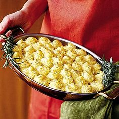 Caramelized Onion-and-Gorgonzola Mashed Potatoes | For an impressive finish, use a large, star-tipped pastry bag to pipe the potatoes in decorative swirls. | SouthernLiving.com