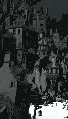 mignola mike Mike MignolaYou can find Mike mignola and more on our website Fantasy Landscape, Fantasy Art, Mike Mignola Art, Science Fiction Art, Environmental Art, Nocturne, Comic Artist, Aesthetic Art, Animation