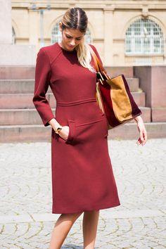 CHIC HAPPENS #Dress #Red #BottegaVeneta #Chloé #bracelet #Bag #look