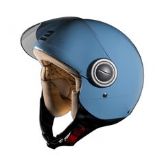 396c23bcac Motorcycle helmet Blue colour Vogue by Exklusiv designed in France