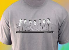 These are pretty cool, might even work for bride and bridesmaids ;) Custom Groomsmen TShirts by FLANELS on Etsy,$40.00